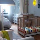 IKEA White Room Kids Crib Decor