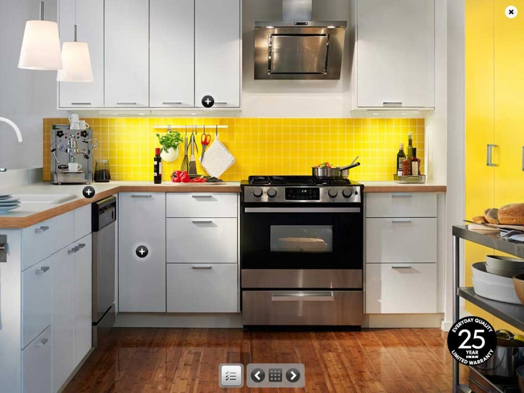 Ikea yellow and white kitchen design interior design ideas for Kitchen remodel inspiration