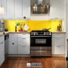 IKEA Yellow and White Kitchen Design