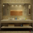 Interior Bathroom Wall by Zorro Design