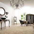 Italian Classic Interior with White Rugs