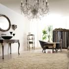 Italian Classic Interior with White Rugs