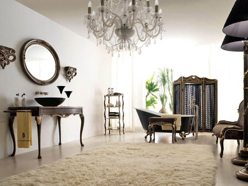Italian Classic Interior With White Rugs Interior Design Ideas