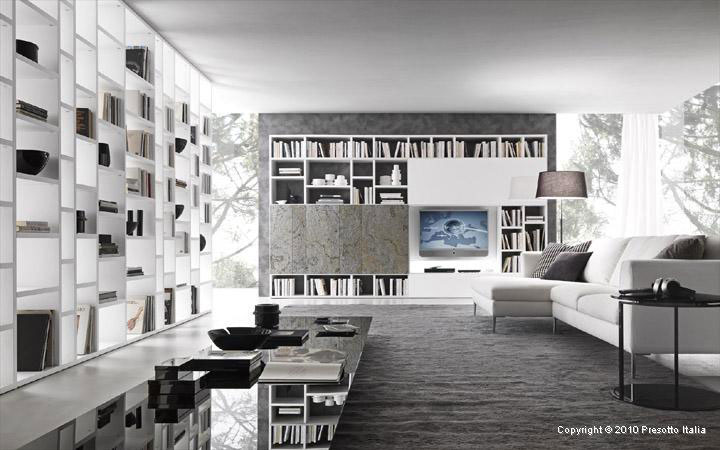 Library Models Italia Living Room