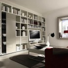 Living Room with White Bookcase Design Ideas