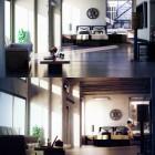 Loft Studio With Dark Hardwood Floors
