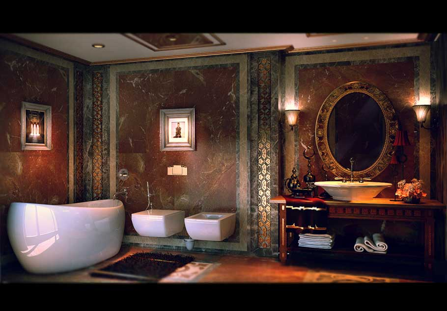 Luxuriou and Exotic Bathroom Facade by YANNA CONCEPT