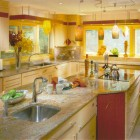 Luxurious Yellow Kitchen Arrangement