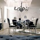Luxury Italian Classic Interior Black Chair