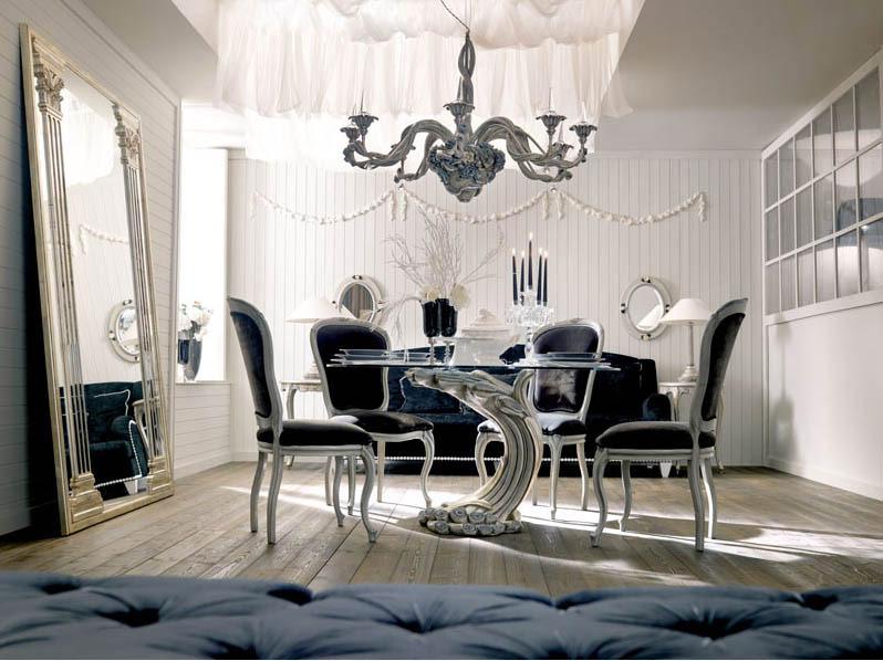 Luxury Italian Classic Interior Black Chair Interior Design Ideas