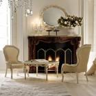 Luxury Italian Classic Interior White Chair