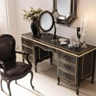 Luxury Italian Classic Interior table Set with Black Chair