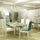 Luxury White Themed Dining Room Design Ideas
