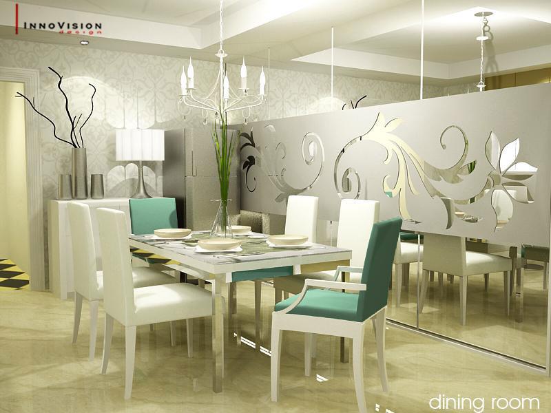 Luxury White Themed Dining Room Design Ideas