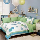 Magnificent Teen Rooms for Girls with Lantern and Polcadot Accents Bedcover