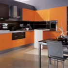 Mia Arancio Orange and Brown Kitchen Design