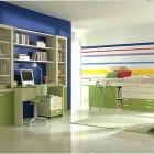Minimalist Full Color Kids Room Design Ideas
