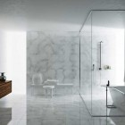 Minimalist and Modern Marble Bathroom Design