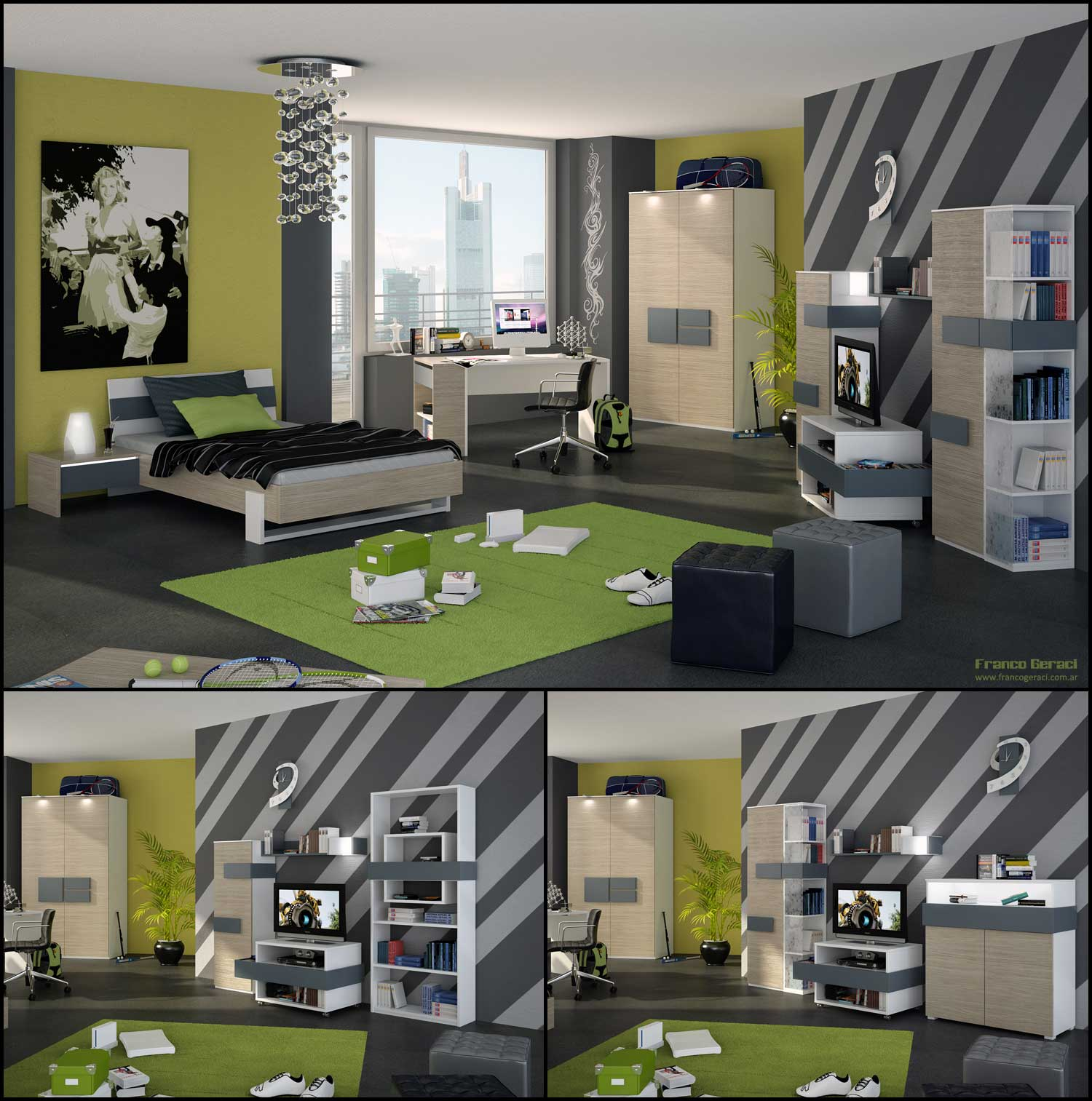 Modern and Cool Bedroom Designs for Boys & Girls - Bedroom ...