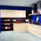 Minimalistic Blue Kitche Design Ideas