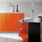 Minimalistic Gifflos Orange Kitchen Design
