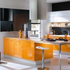 Mobalpa Shining Orange Kitchen Design Ideas