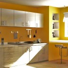 Modern And Minimalistic Yellow Kitchen