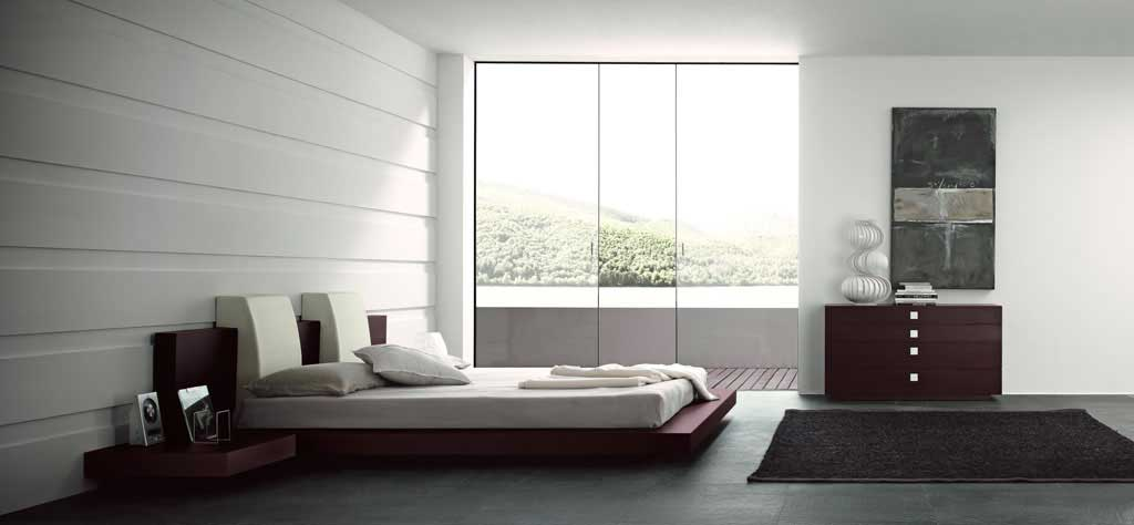 Modern and simple open bedroom decor interior design ideas for Simple modern bedroom design