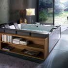 Modern Bathtub with Storage by BluBleu