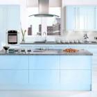 Modern Blue Modular Kitchen Design