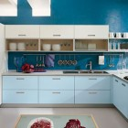 Modern Blue and White Kitchen Design