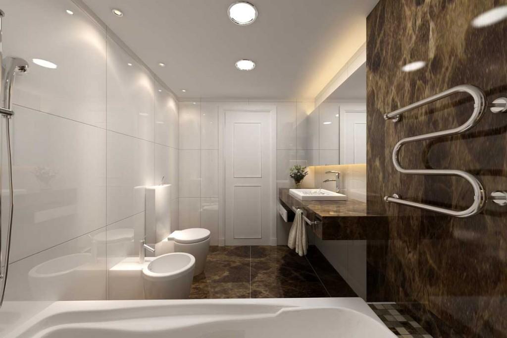 Modern Classic Bath Earth Tones Design Ideas