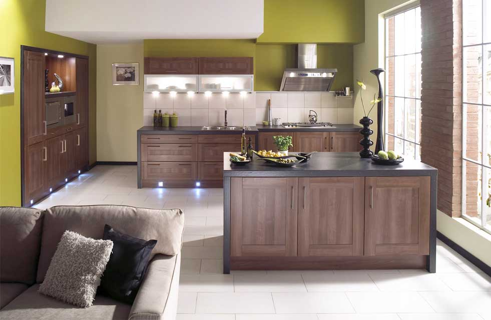 Modern classic kitchen home christmas decoration Modern green kitchen ideas