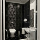 Modern Classic Style Bathroom Black and White Tile Design Ideas