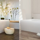 Modern Free Standing Strip Tub by Aquamass
