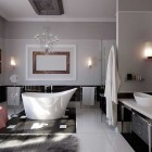 Modern Glamorous Bathroom Stainless Beautiful Chandelier with Pelage Rug