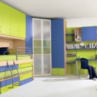 Modern Green and Blue Boys Bedroom Design