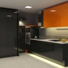 Modern Orange And Black Kitchen Design Ideas