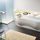 Modern Organic Shaped Bathtub With Cream by BluBleu