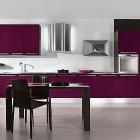 Modern Purple Kitchen with Appliances