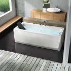 Modern Rectangular Bathtub With Head Rest by BluBleu