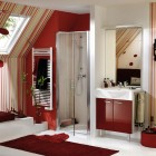 Modern Red Bathroom from Delpha