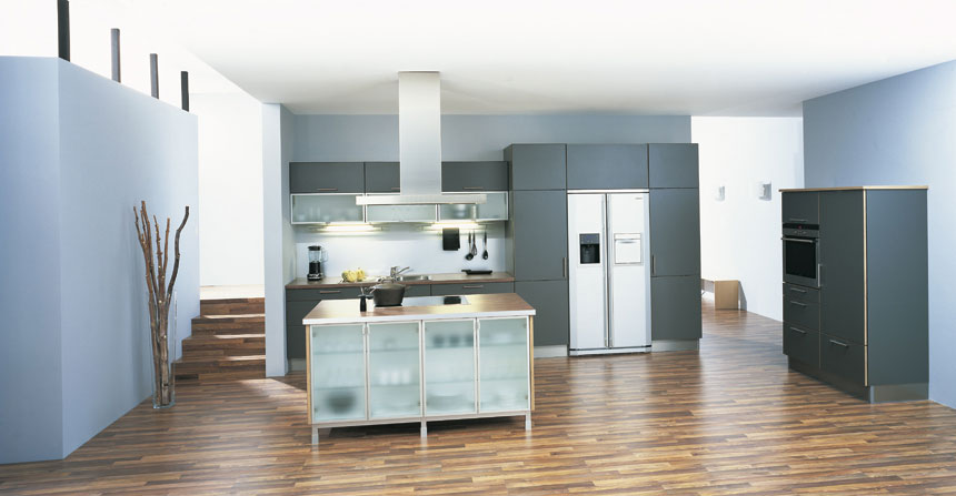 Modern remmp german blue kitchen design interior design for Modern german kitchen designs