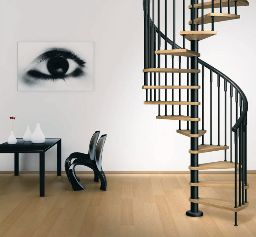 Simple house designs for Spiral stair design