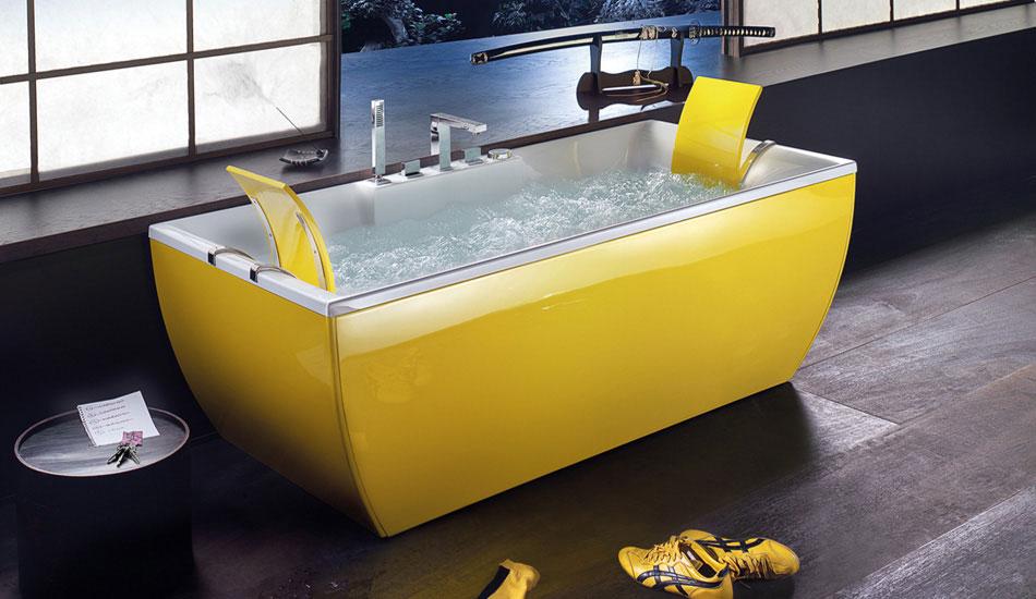 Modern Teen Yellow Bathtub by BluBleu