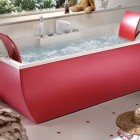 Modern Teen Red Bathtub by BluBleu