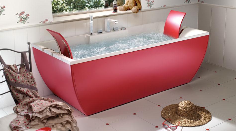 Modern Teen Red Bathtub by BluBleu