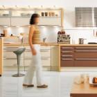 Modern White and Brown Kitchen Design