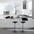 Modern White and Chrome Kitchen Inspiration