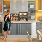 Modular Grey and Yellow Kitchen Design